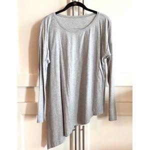 Lululemon grey shirt w/ asymmetrical hemline, sz10